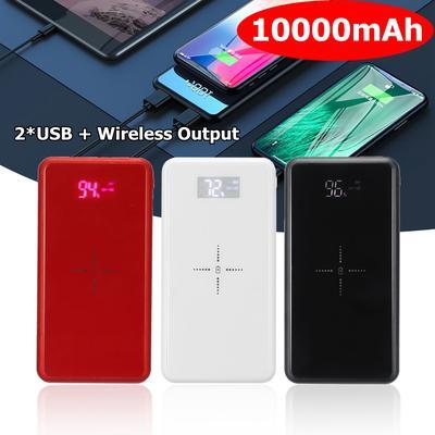 b1efeacdcd4 ... teléfono celular para Iph. 4,3. Comprar. Banco de energía Qi  inalámbrico 3 en 1 carga USB LED batería cargador rápido con soporte