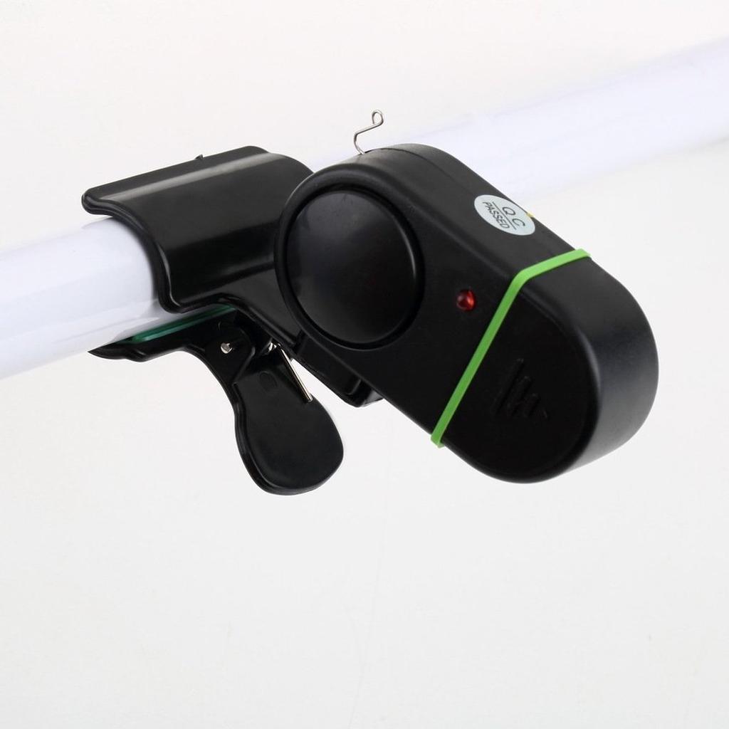 Electronic Bite Fish Alarm Bell Fishing Rod Pole W// LED Light Power Saving KW