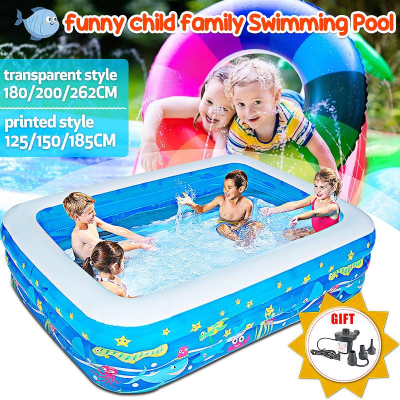Kids Inflatable Swimming Pool Children S Home Use Paddling Swim Family Large Water Play Center Outdoor Fun Bath Tub Swim Piscina For Baby Buy From 25 On Joom E Commerce Platform