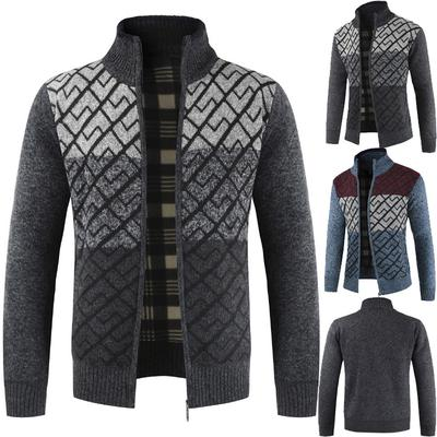 Men's Knitted Long Sleeve Cardigan Sweaters Casual Tops