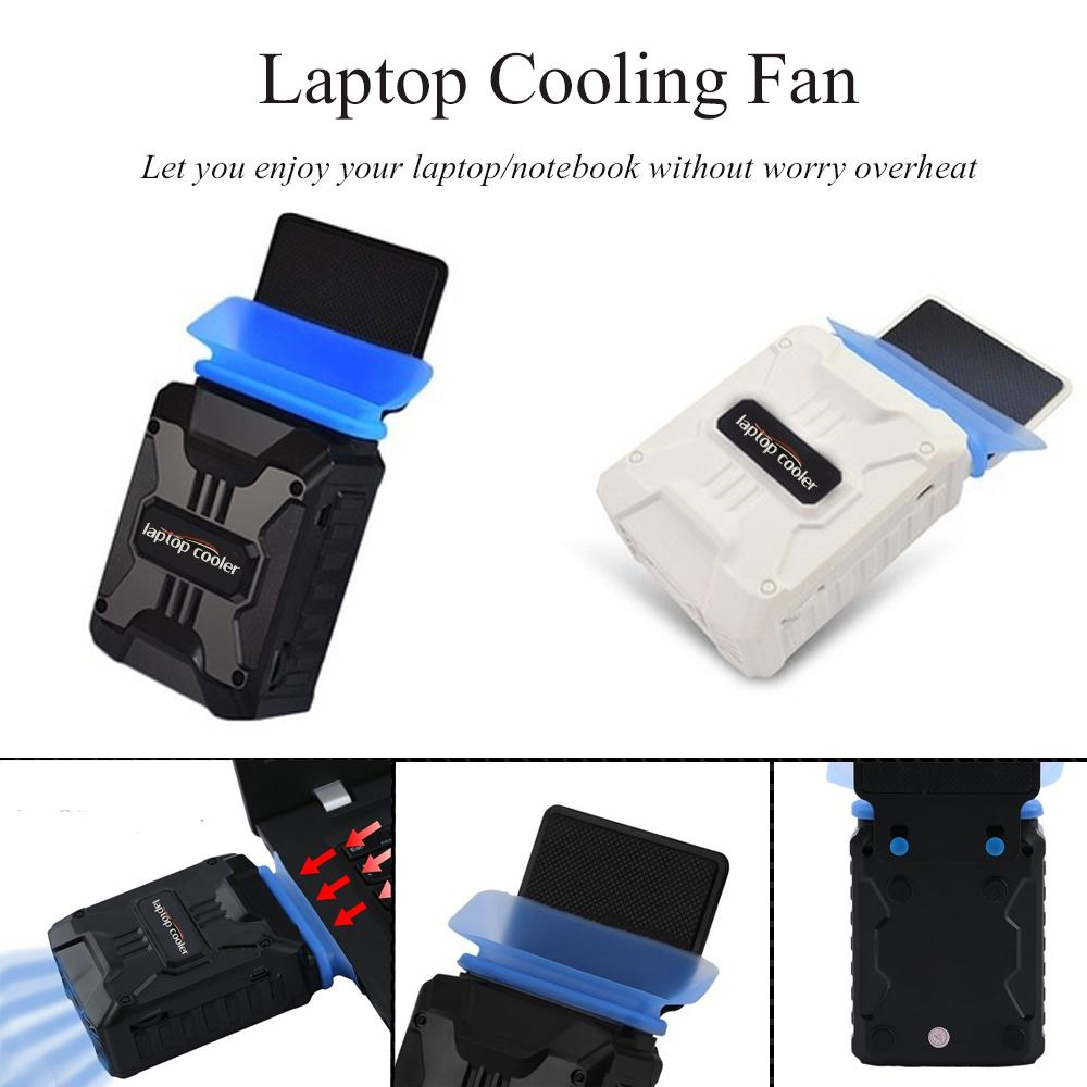 CPU Cooler Air Extracting Cooling Fan Cold Wind Chiller Notebook Dissipate Heat