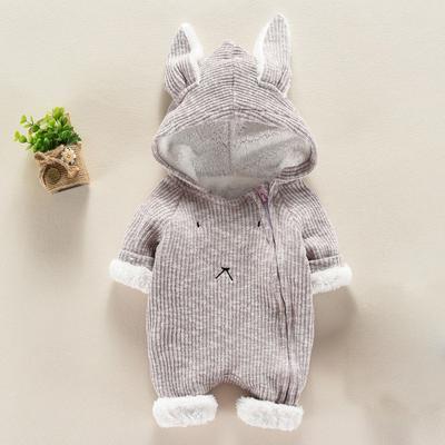 Moda bebé niño recién nacido niño niña dibujos animados 3D oído con capucha  mameluco Enterizo ropa 93c95e13e900