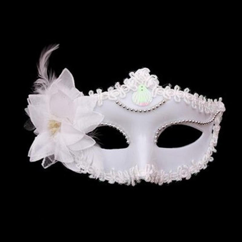 BLACK LACE VENETIAN MASQUERADE CARNIVAL PARTY EYE MASK WITH FEATHERS G8K2