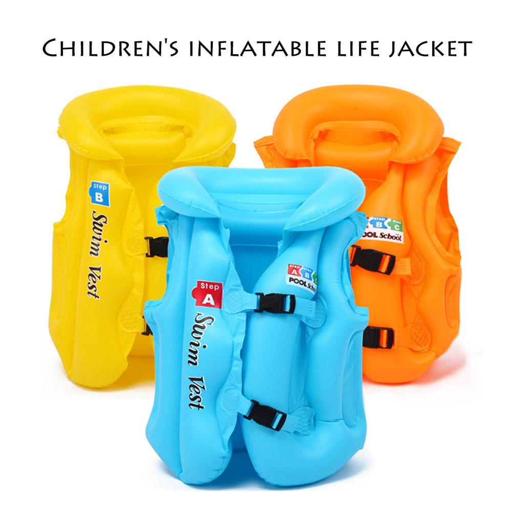 Inflatable Swimming Life Jacket Aid Float Sea Swim Pool Vest Kids Baby Child ZH