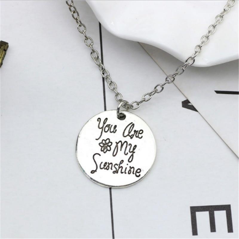 Romantique Love Cadeau Tu es Mon Soleil Mon seul sunshine Soleil Collier Pendentif