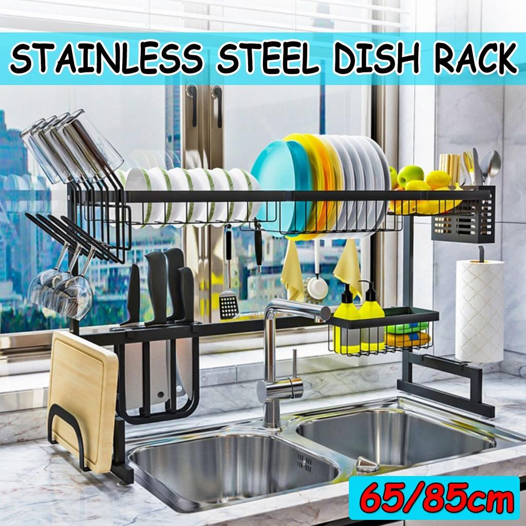 Buy Single Double Slots Over Sink Stainless Steel Kitchen Shelf Storage Holders Bowl Dish Drain Rack Organizer At Affordable Prices Free Shipping Real Reviews With Photos Joom