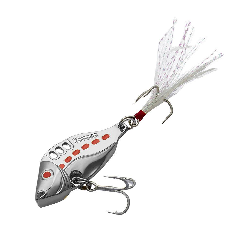 20 Stücke Fischen-Fische Drillinge mit Feder Bass Haken Angeln Zubehör