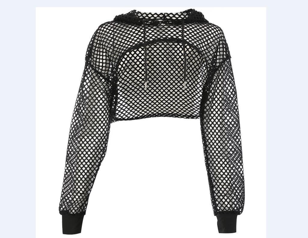c573f090e Mulheres Outerwear manga longa camisola sensual corte Crop Tops ...