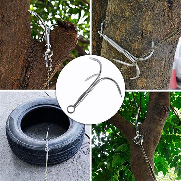 3-Claw Stainless Steel Tree Assorted Colors Details about  /Grappling Hook Grapnel Hook