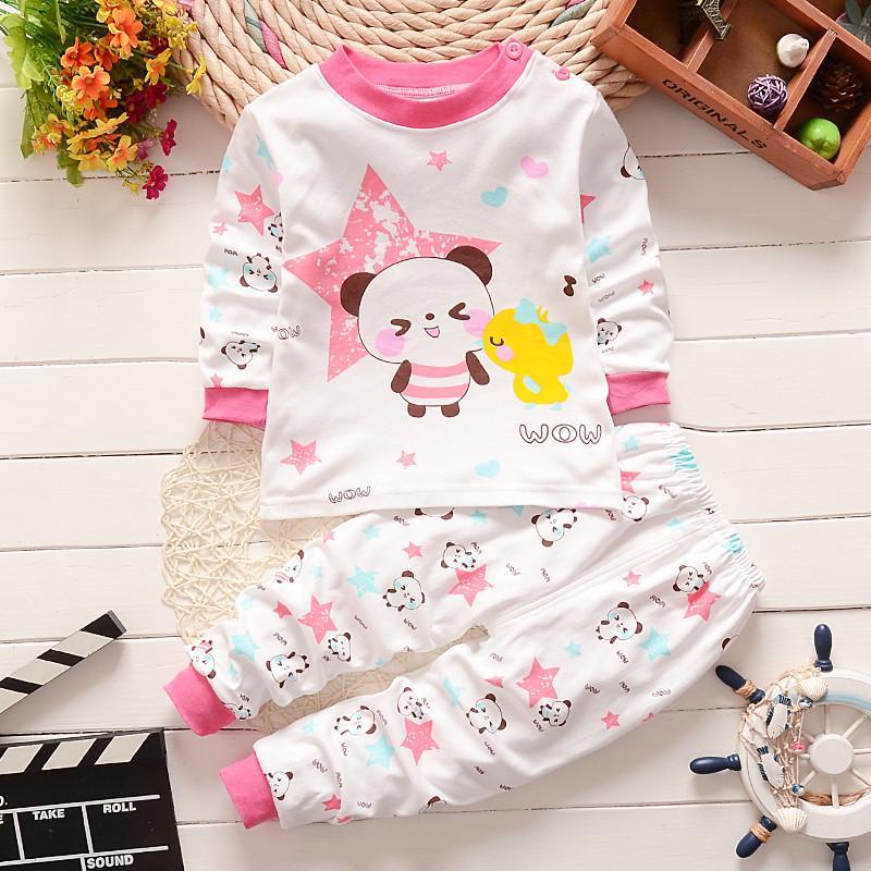 2015新款儿童家居服休闲睡衣内衣外贸韩版男女童长袖童装纯棉