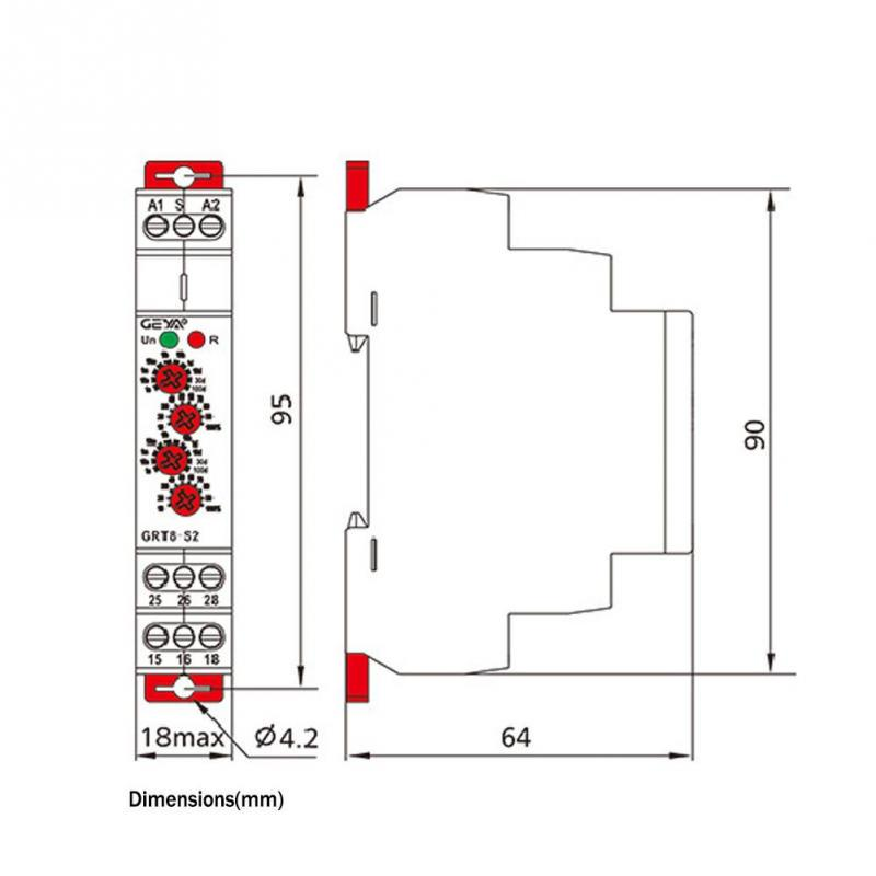 Dingln Timer Relay,GRT8-S2 Mini Asymmetric Cycle Timer ON//OFF Repeat Cycle Time Relay AC//DC 12-240V