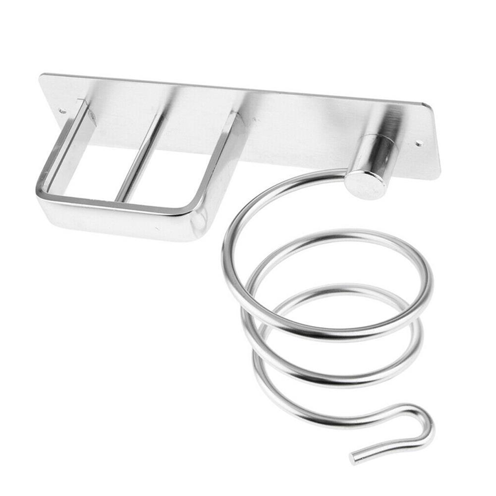 Bathroom Salon Hair Dryer Straightener Holder Shelf Storage Organizer Wall Rack