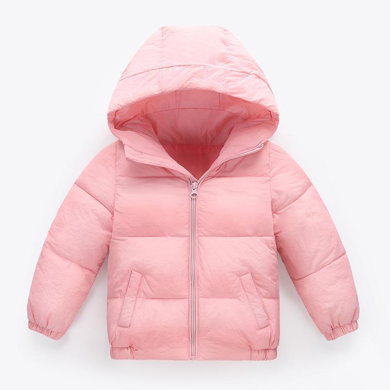 db3023189 Ropa liviana de algodón capa Color sólido de invierno los niños con ...