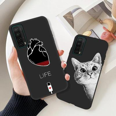 Black Case For Huawei P Smart 2021 Multi-style Silicone Cover For Huawei Y7A PPA-AL20 6.67 Inch Painted Patterns Phone Bag