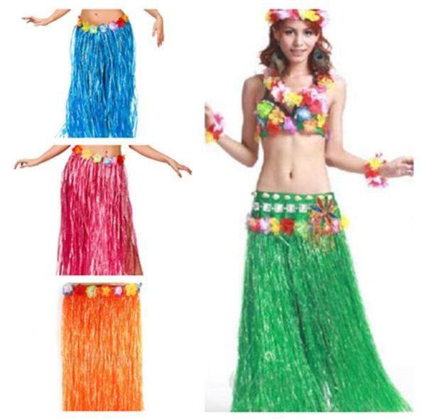 1PC Hawaiian Hula Grass Party Dress Luau Skirt Beach Dance Costume