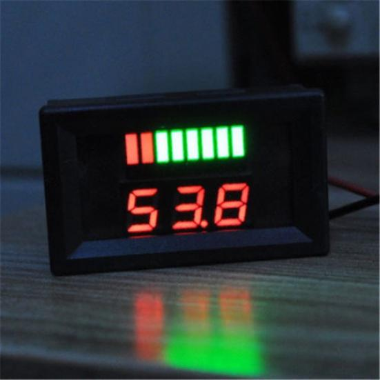 LCD Plomb Acide Batterie Lithium Li-ion Battery BMS capacité indicateur de niveau de tension Meter