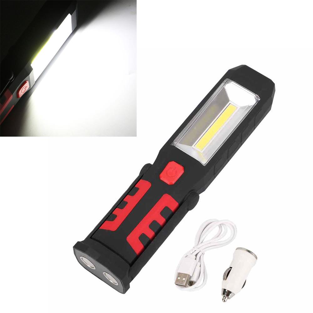 LED COB Hand Torch Inspection Lamp Car Garage Work Light Magnetic Rechargeable