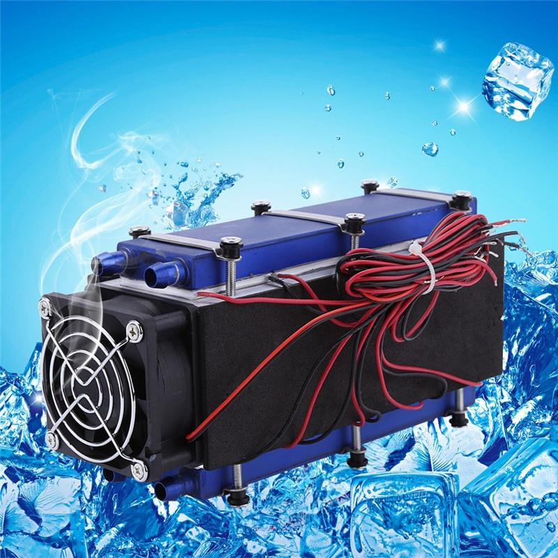 Rapid Cooling Cooling System DIY Kit Semiconductor Refrigeration Machine for Semiconductor Refrigeration Learning Small Space Cooling 240W