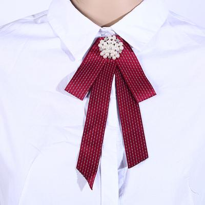 aa8d1024c80 Fashionable Jewelry Simple Casual Stripe Bowknot Corsage Elegant Exquisite  Pearl Decoration Brooch