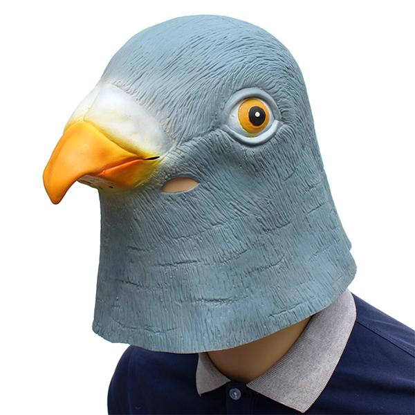 Latex Full Head Animal Pigeon Mask Fancy Dress Halloween Costume Dress Up Props