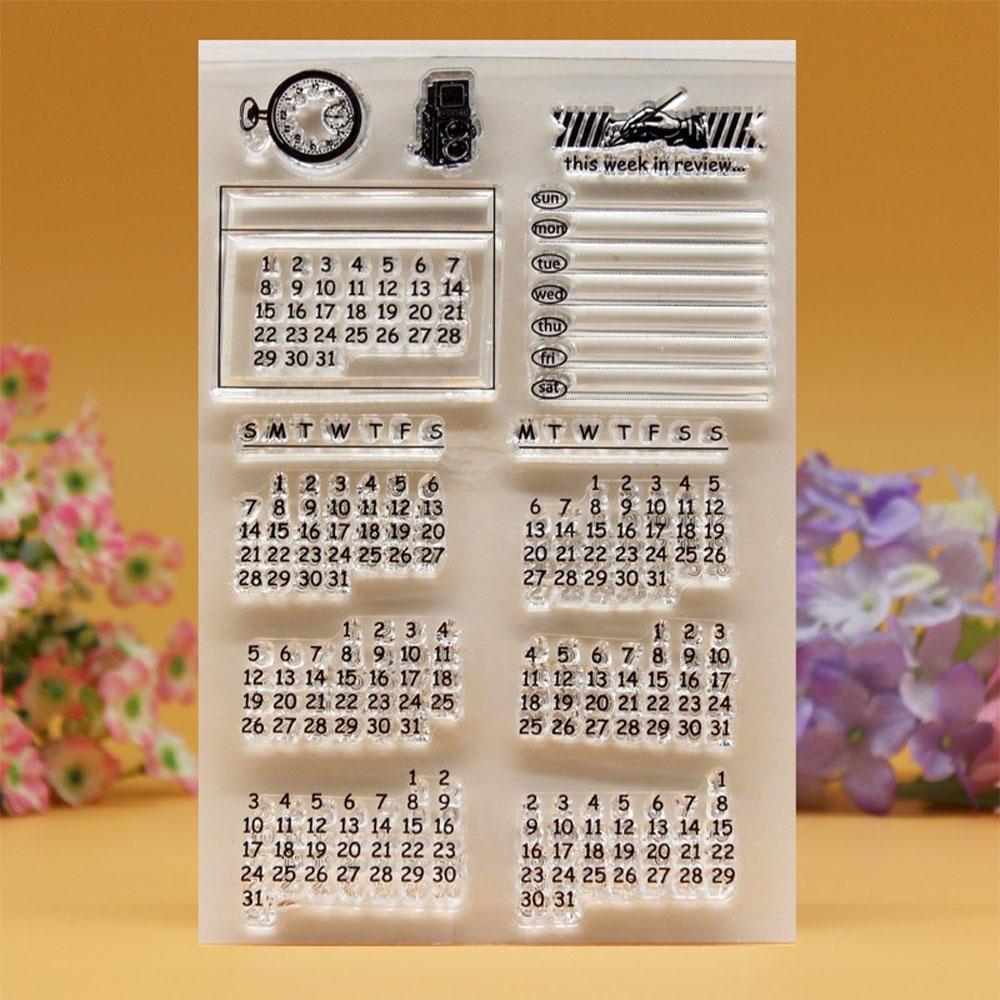 DIY Christmas Gift Clear Stamp Transparent Perpetual Calendar