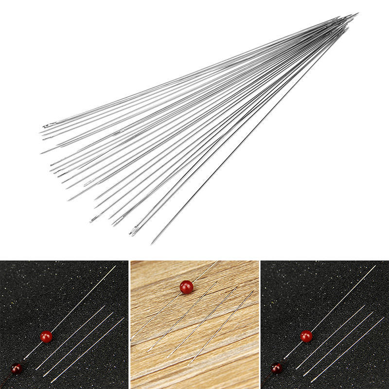 30X Beading Needles Threading Cord Tool  Jewelry Stainless Steel 0.6*120mm Nice