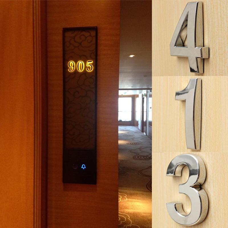 1шт адрес доска цифровой наклейки цифровой номер плиты металла 3D номер номер номера дома фото