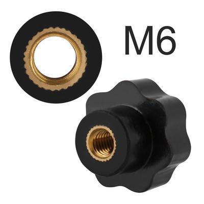 Machinery M5 Female Thread Adjustable Tri-color Metal Knob Handle Lever 3Pcs
