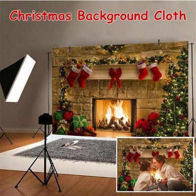 KonPon 1x1.5m Photography Backdrops Christmas Backdrop Gift Photo Backdrop Photo Booth Props Studio Christmas Background KP-188