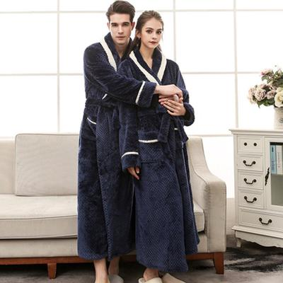 6381a6c165 On Dressing Thick Warm Winter Bathrobe Men Soft as Silk Extra Long Kimono  Bath Robe Male · Price  53 · Couples Thickening Flannel Robe Lovers  Sleepwear ...