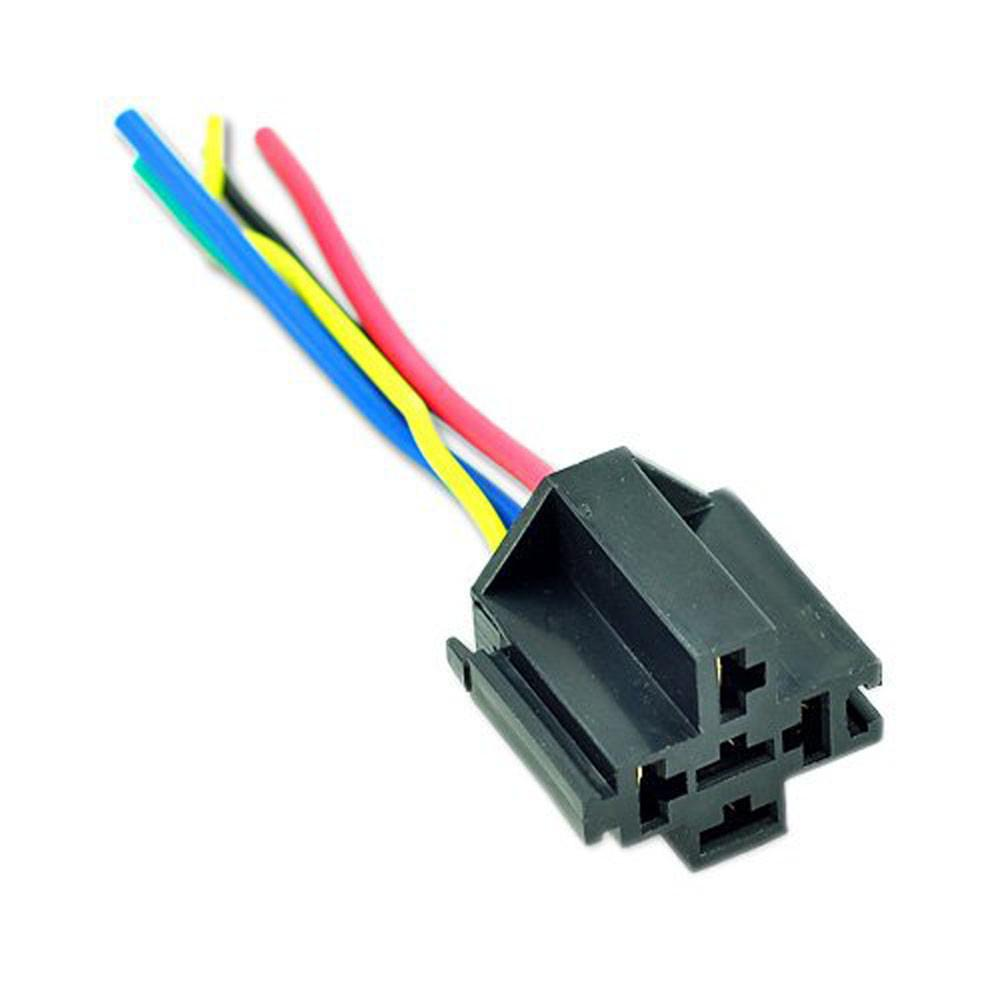 For Auto Car 5 Pin Cable Wire Relay Socket Harness Connector Dc 12v Spdt 1 Of 3
