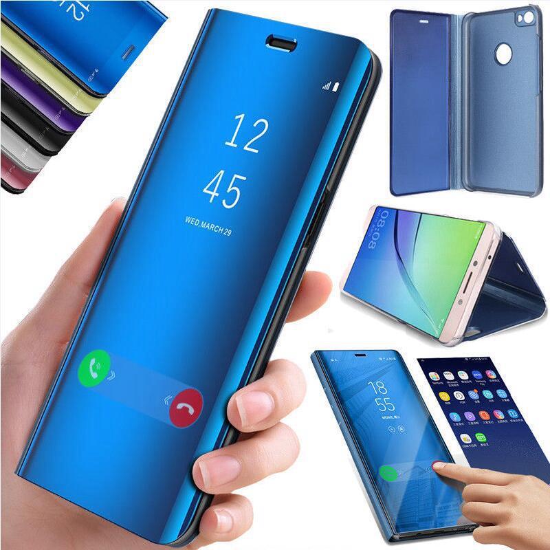 Для Samsung Примечание 10 Плюс Flip Smart Зеркало Кожа Стенд Телефон Чешоте Samsung S10 S20 Плюс A51 A71