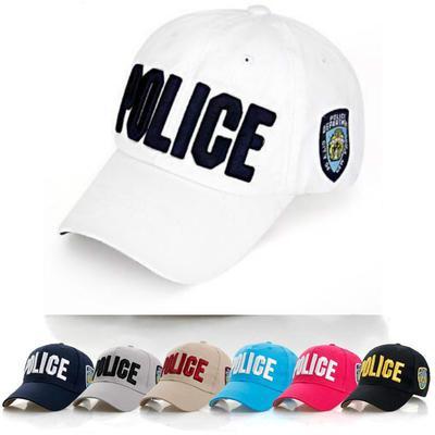 fc8e9bf90dd Police Letter Embroidered Cap Unisex Hat Adjustable Baseball Cap Fashion  Street Style Snapbacks Cap
