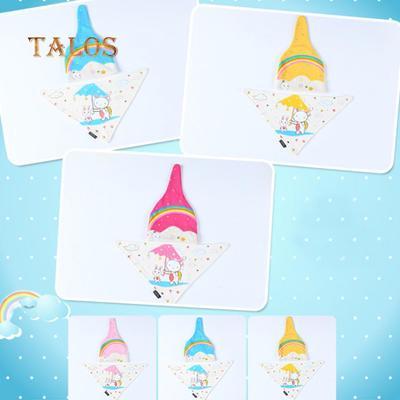 83c713c5a0a Baby Boys Girls Cute Rainbow Rabbit Umbrella Print Autumn Beanie Triangle  Towel Children s Hats