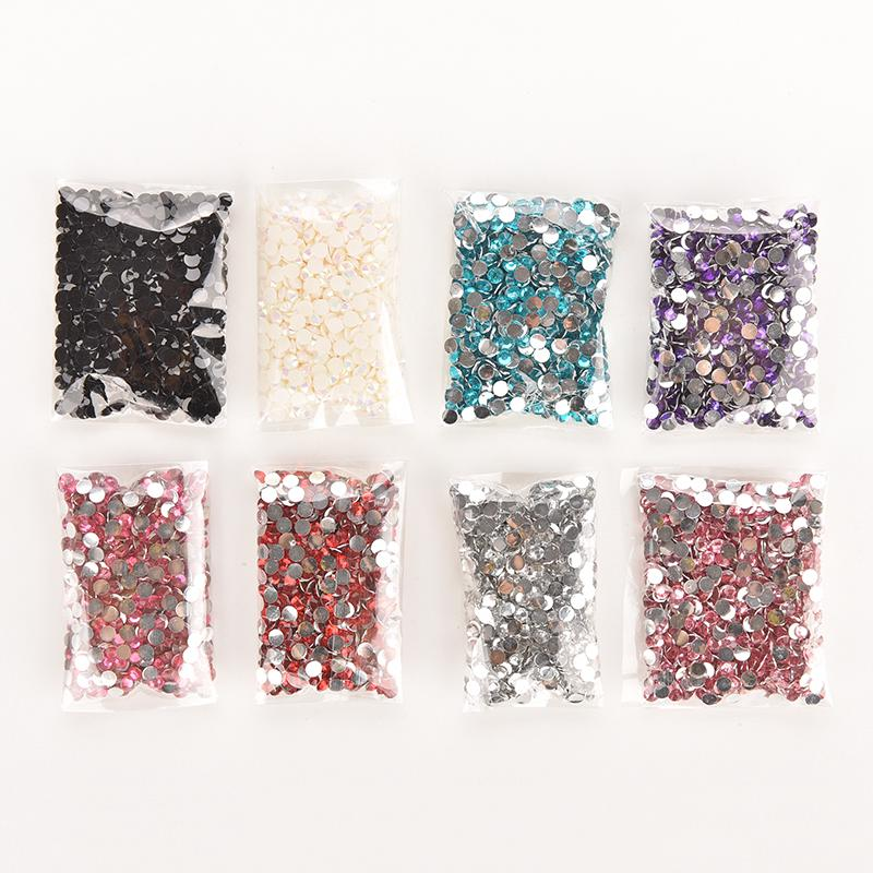 Много 1000Pcs Rhinestone Facets Flatback Crystal Round Beads Nail Art Diy 4Mm