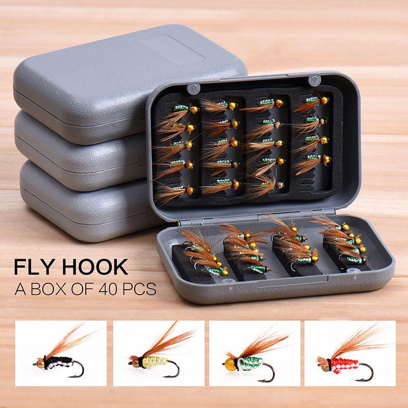 Fliegenfischen Fliegt Box Wasserdichte Forelle Bass Fliegt Angelhaken Box
