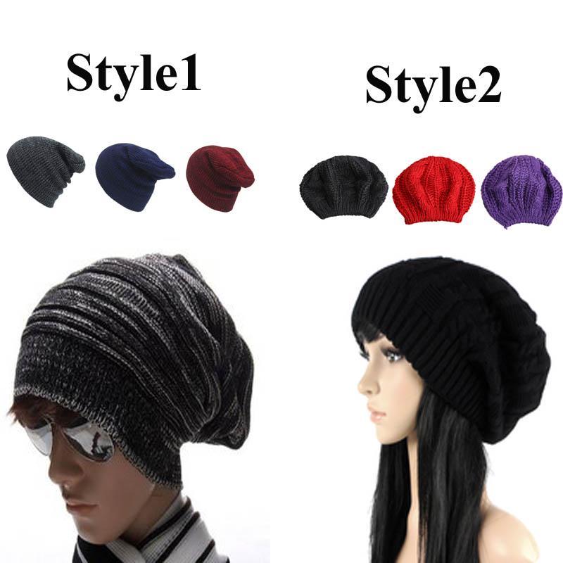 Los hombres de sombreros del Knit del algodón de invierno Casual ...