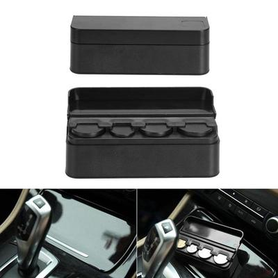 Car Coin Storage Box,Dual-use Car Coins Case Loose change Storage Box Pocket Money Wallet Organizer Sundries Bag For Home And Auto