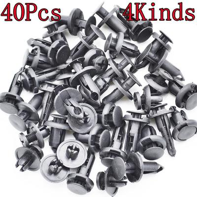 Deal Mux 100pcs Grey Plastic Rivets Fastener Bumper Push Clips 8/mm Hole