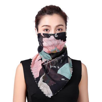 Women Summer Neck Face Cover Chiffon Sun UV Protection Silk Shawl Scarf Bandana