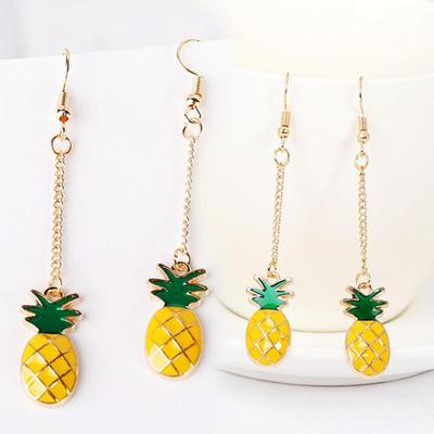 Vintage Fashion Fruit Pineapple Earrings for Women Girl Stud Earrings Jewelry Beach Party Party Gifts