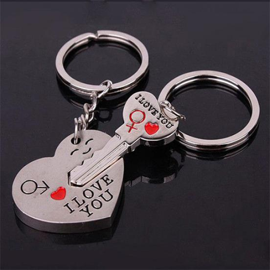 Keychain Lovers Key Rings Valentines Day Подарки