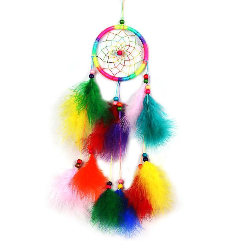 Colorfull Dream Catcher перо ремесла ручной работы дома висит подарки