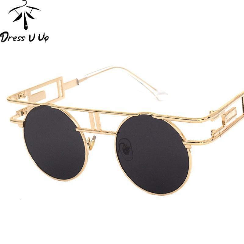 Máscaras de Metal vintage homens redondo para as mulheres da moda óculos de  sol, óculos de sol Steampunk-comprar a preços baixos na loja virtual Joom d023a358fc