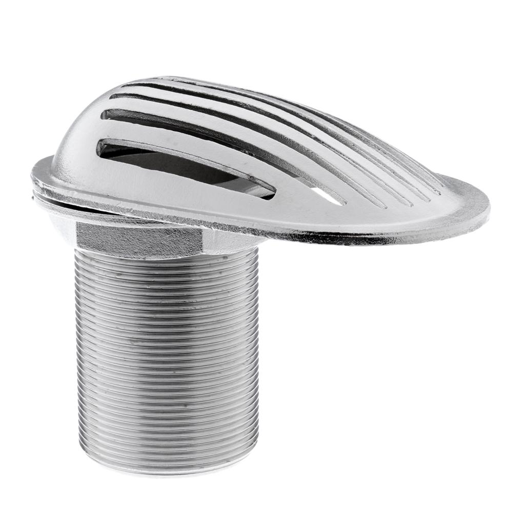 "1/"" Thread Marine Thru Hull Fitting Intake Strainer Threaded Boat Stainless Steel"
