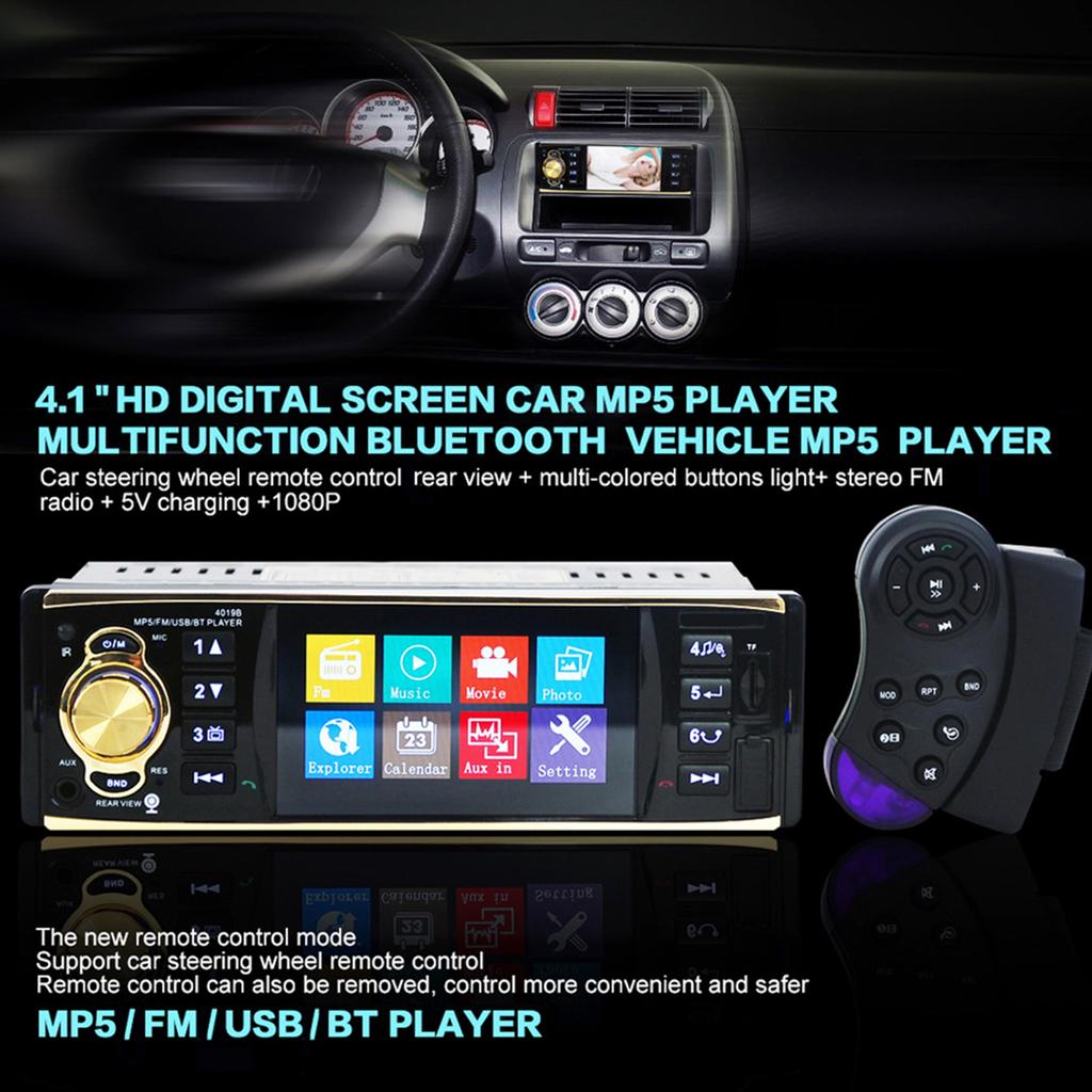4019b 41 Inch Vehicle Mounted Mp5 Player Stereo Audio Car Video Fm Radio With Remote Control Buy At A Low Prices On Joom E Commerce Platform