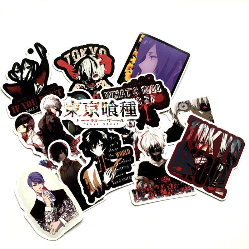 Tokyo-50 Potota Tokyo Ghoul Stickers 50 Pcak Vinyl Waterproof Stickers for Laptop,Bumper,Water Bottles,Computer,Phone,Hard hat,Car Stickers and Decals,