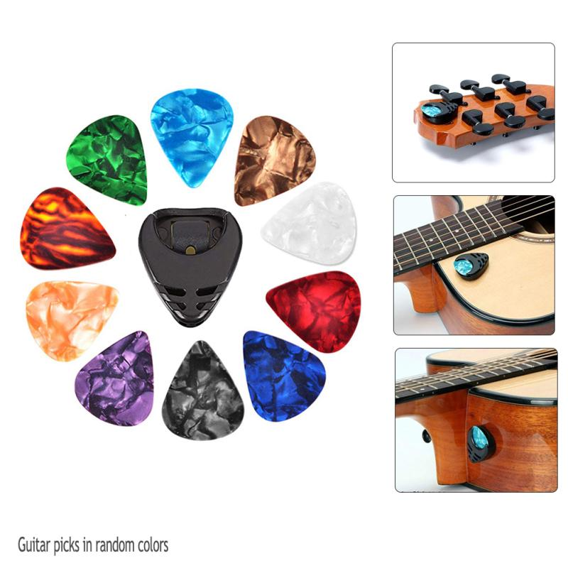 Plectrums Guitar Picks with a Pick Holder-Pack of 10