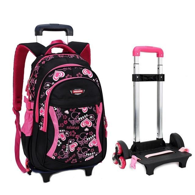 bfc5bb17d22d Детская школа тележки мешок колесо колесных для детей Grils рюкзак ...
