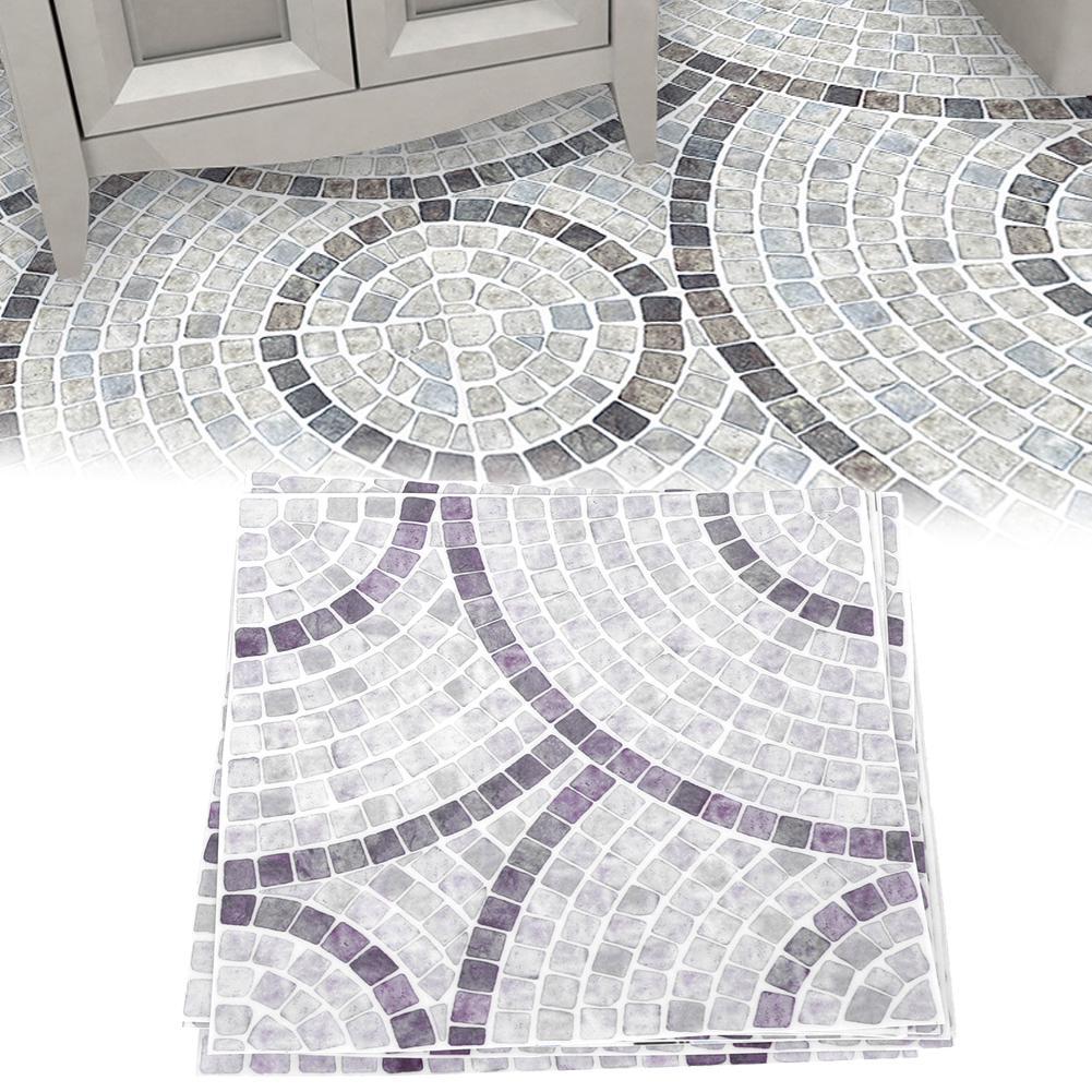 9Pcs Waterproof Tiles Sticker Non slip Floor Wall Decals for Kitchen  Bathroom Decor